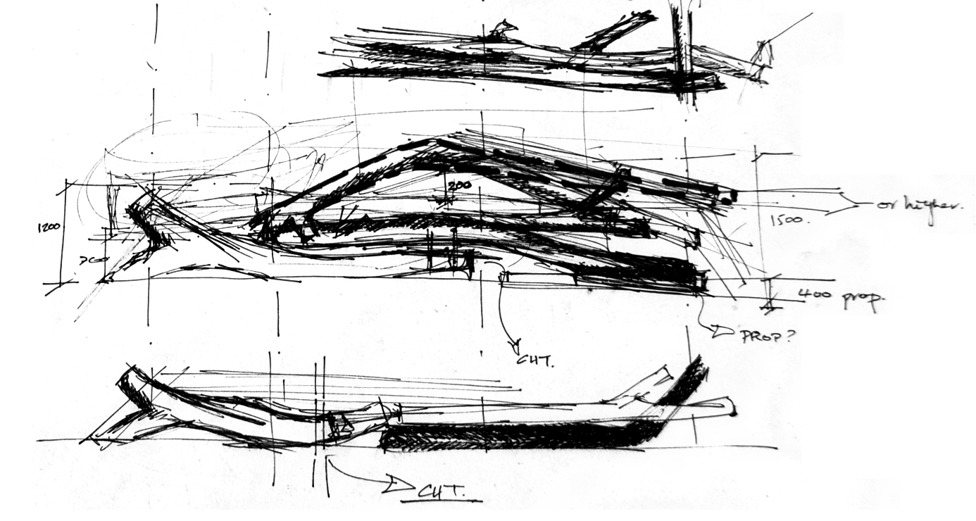 Driftwood Wall sketch by Sarah Greenlees
