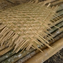 Bamboo weave panels before framing, at Camp Mantanani
