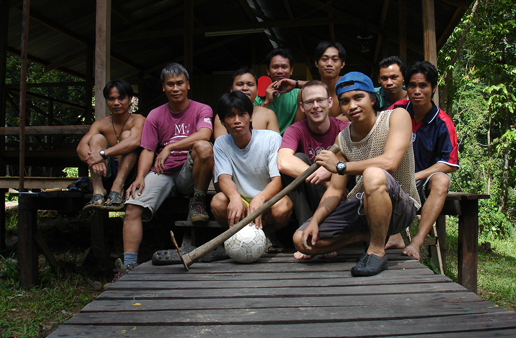Ian Hall with Imbak Rangers