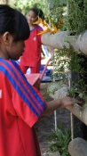 Bamboo planting with school children