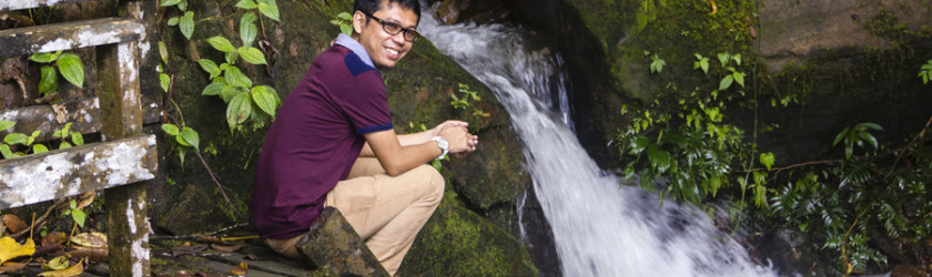 Rahim Bin Mudin pictured near Muaya Waterfall
