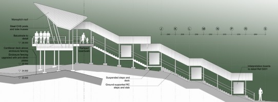 BSBCC Observation Platform section drawing