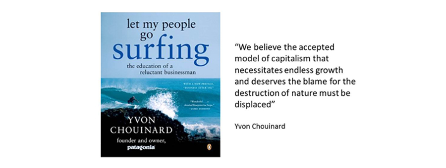 Arkitrek founder, Ian Hall, found business inspiration in Yvon Choinard's book, 'let my people go surfing'.